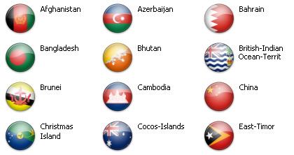 Bandiere dal mondo - Asia 1