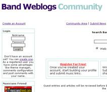 Band Weblogs