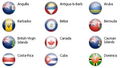 Bandiere dal mondo - Caraibi e Nord America 1