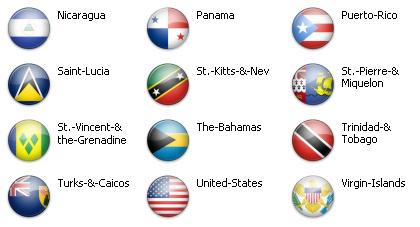 Bandiere dal mondo - Caraibi e Nord America 3