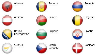 Bandiere dal mondo - Europa 51 icone 1