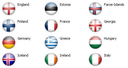 Bandiere dal mondo - Europa 51 icone 2