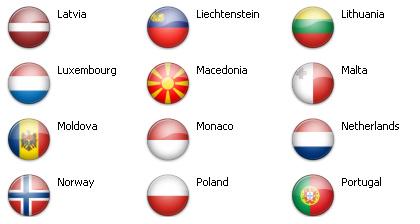 Bandiere dal mondo - Europa 51 icone 3