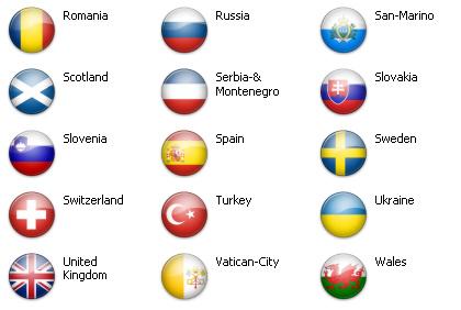 Bandiere dal mondo - Europa 51 icone 4