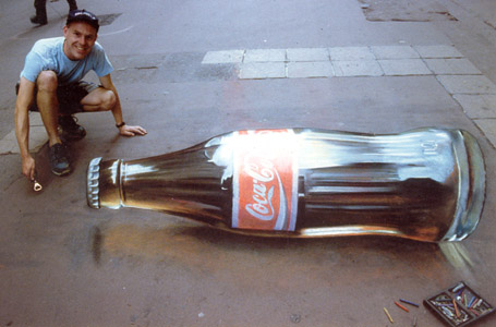 Julian Beever - Coke