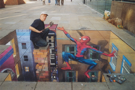 Julian Beever - Spiderman