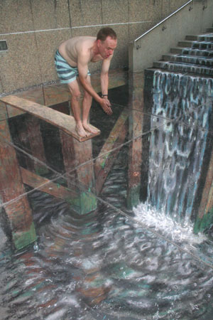 Julian Beever - Waterfall