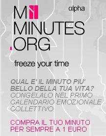 Myminutes acquista il tuo minuto per sempre