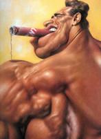 Arnold Schwarzenegger caricatura di Sebastian Kruger