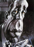 Humphrey Bogart caricatura di Sebastian Kruger