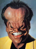 Jack Nicholson caricatura di Sebastian Kruger