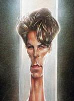 Jamie Lee Curtis caricatura di Sebastian Kruger