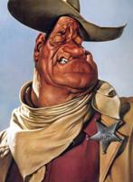 John Wayne caricatura di Sebastian Kruger