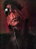 Lou Reed caricatura di Sebastian Kruger