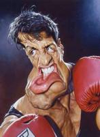 Sylvester Stallone caricatura di Sebastian Kruger