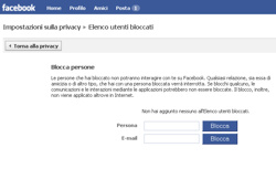 Facebook, impostazioni sulla privacy