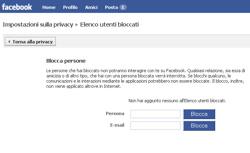 Facebook, impostazioni sulla privacy