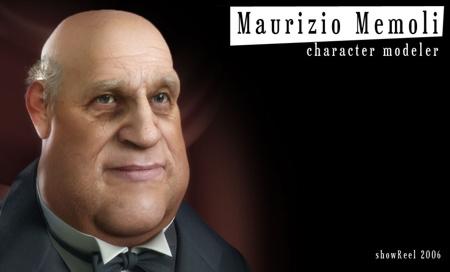 Maurizio Memoli, character modeler