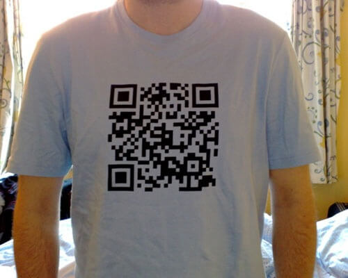 QR Codes tshirtdesign 25 Smart And Creative Ways To Implement