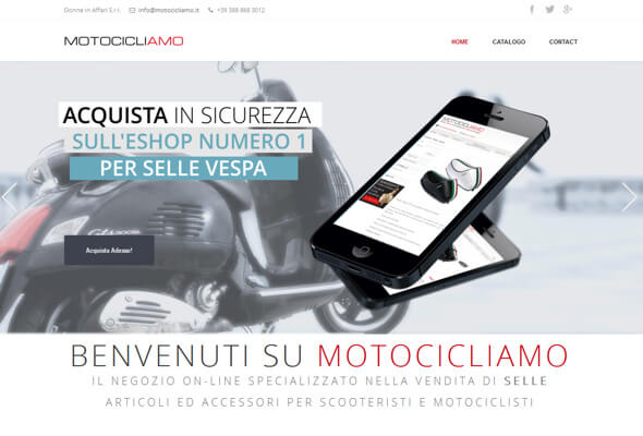 Selle caschi e accessori per moto e scooter
