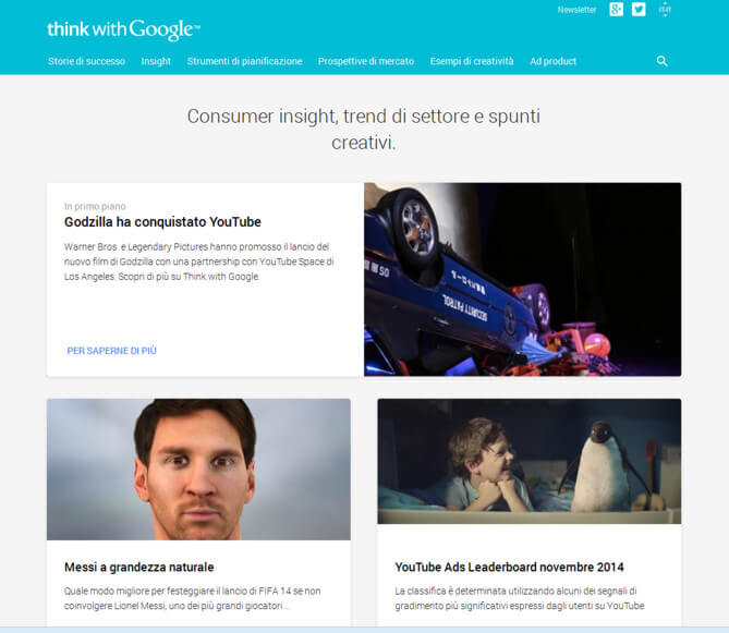 Think with Google risorse per il web marketing