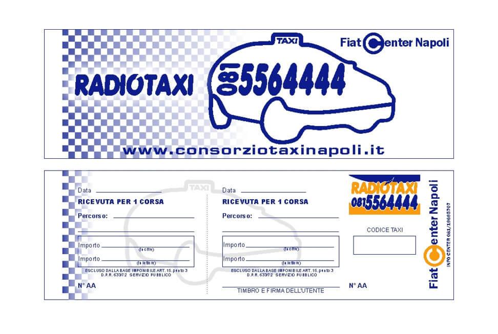 Progetto grafico Carnet Ticket Radio Taxi Napoli