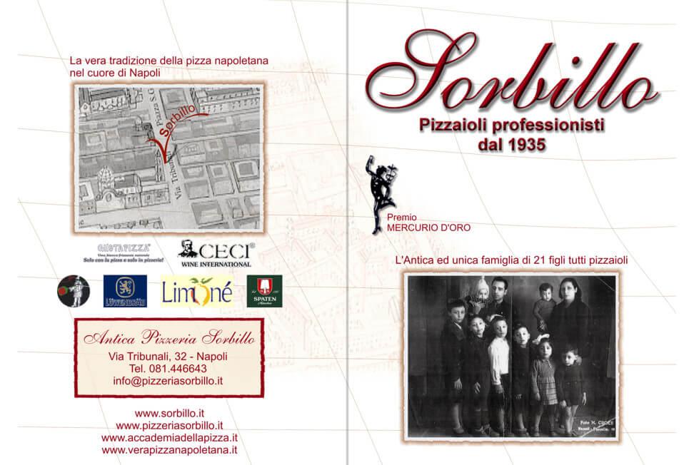 Brochure pizzeria Gino Sorbillo fronte