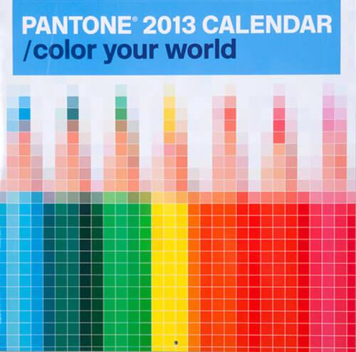 Pentagram Pantone 2013 Calendar
